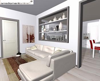 Soggiorno e cucina in un appartamento affacciato sul verde - Cucina piu soggiorno ...