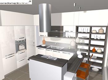 Cucina con isola centrale - Laminato ikea cucina ...