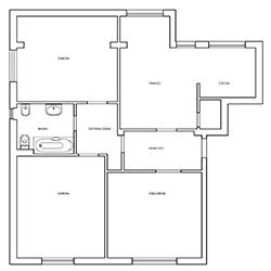 La pianta dell'appartamento