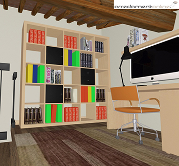 Studio in mansarda con mobili ikea - Mobili studio ikea ...