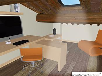 Studio in mansarda con mobili ikea for Arredare mansarda ikea