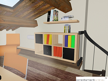 Studio in mansarda con mobili ikea - Arredare studio ikea ...
