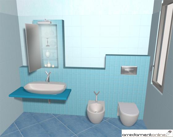 Ristrutturare un bagno senza demolizioni si puo fareeee - Posizione sanitari bagno ...