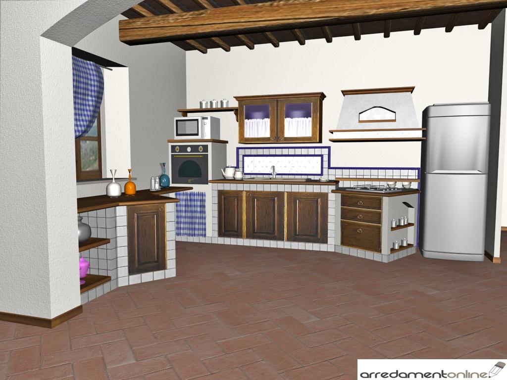 Cucina in muratura o in falsa muratura - Progetti cucina in muratura ...